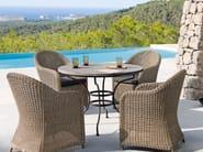 Round wrought iron garden table CAPRI | Round garden table - MANUTTI