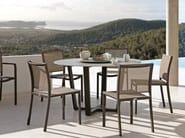 Round aluminium garden table FUSE   Round garden table - MANUTTI