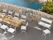 Wrought iron garden footstool VERSAILLES | Garden footstool - MANUTTI
