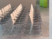 Stackable wooden training chair with armrests FIRST LINE | Chair - Brunner