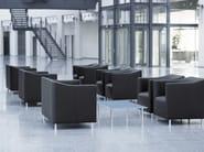 Upholstered leather armchair HAVANA   Armchair - Brunner