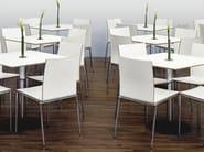 Stackable wood veneer chair MILANOLIGHT | Chair - Brunner