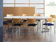 Folding rectangular office desk SLEIGHT - Brunner