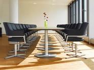 Rectangular MDF meeting table SPIRA   Rectangular meeting table - Brunner