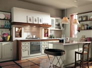 Lacquered cherry wood kitchen IL CANTO DEL FUOCO | Cherry wood kitchen - Martini Mobili