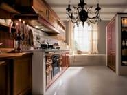 Linear cherry wood kitchen IL CANTO DEL FUOCO | Cherry wood kitchen - Martini Mobili