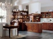Linear walnut fitted kitchen IL CANTO DEL FUOCO | Fitted kitchen - Martini Mobili