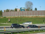 Road noise barrier FONOLECA QUADRO - EDIL LECA - Divisione INFRASTRUTTURE