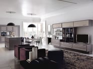 Lacquered fitted kitchen with island CONVIVIO | Fitted kitchen - Martini Mobili