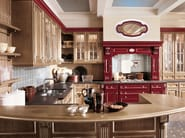 Lacquered chestnut fitted kitchen TOSCA | Chestnut kitchen - Martini Mobili