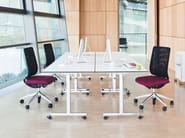 Folding rectangular meeting table with casters TORINO | Meeting table with casters - Brunner