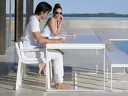 Aluminium garden chair FLAT | Garden chair with armrests - GANDIA BLASCO
