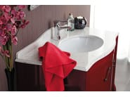 Lacquered vanity unit with doors NARCISO 2 - LEGNOBAGNO