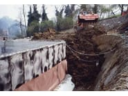 Earth retaining wall drainange and protection system FONDALINE 600 - ONDULINE ITALIA
