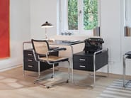 Ash writing desk with drawers S285 | Writing desk - THONET