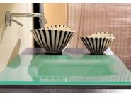 Wall-mounted vanity unit with drawers MARIPOSA 15 - LASA IDEA