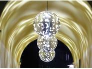 Aluminium pendant lamp CAMOUFLAGE 800 - ZERO