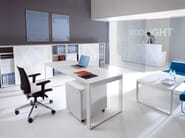 Office storage unit with sliding doors STANDARD | Office storage unit - MDD