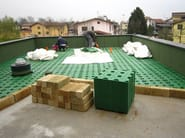 Roof garden system WINDI DRAIN - PONTAROLO ENGINEERING