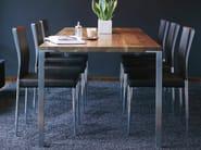 Rectangular steel and wood table VEGAS | Steel and wood table - KFF