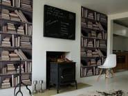 Trompe l'oeil wallpaper VINTAGE BOOKSHELF - Mineheart