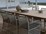 Rope garden chair with armrests MALIBU | Garden chair - MANUTTI