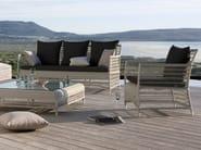 3 seater rope garden sofa MALIBU | Garden sofa - MANUTTI