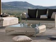 Low Square garden side table MALIBU | Low garden side table - MANUTTI