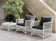 Square aluminium garden side table MALIBU | Garden side table - MANUTTI