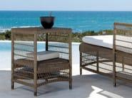 High Rectangular garden side table MALIBU | High garden side table - MANUTTI