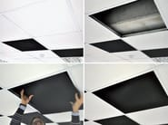 Sound absorbing ceiling tiles ISOLSPACE SKY - Isolmant - TECNASFALTI