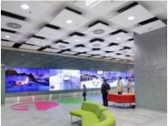 Glass wool acoustic ceiling clouds Ecophon Solo™ Square - Saint-Gobain ECOPHON