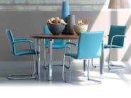 Sled base leather chair FREYR - LEOLUX