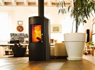 Wood-burning stove for air heating NADIR - MCZ GROUP