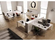 Workstation with partitions ONLINE3 | Office workstation - MASCAGNI