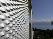 Stretched mesh for facade finish Stretched mesh for facade finish - Fratelli Mariani