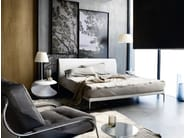 Double bed with upholstered headboard TALAMO - Zanotta