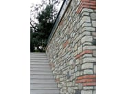 Ecological outdoor reconstructed stone wall tiles MISTI - ITALPIETRA