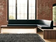 Upholstered leather bench D15 | Upholstered bench - Hülsta-Werke Hüls