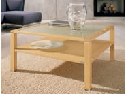 Square maple coffee table for living room CT 10 | Maple coffee table - Hülsta-Werke Hüls