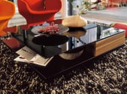 Low lacquered glass coffee table for living room CT 90 | Lacquered glass coffee table - Hülsta-Werke Hüls