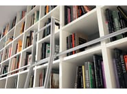 Open wall-mounted lacquered bookcase MEGA-DESIGN | Wall-mounted bookcase - Hülsta-Werke Hüls