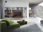 Open floating TV wall system MEGA-DESIGN | Floating bookcase - Hülsta-Werke Hüls