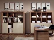 Open lacquered walnut bookcase XELO | Walnut bookcase - Hülsta-Werke Hüls