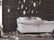 Upholstered recliner fabric double bed SALTO - Carpe Diem Beds of Sweden