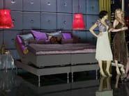 Upholstered recliner fabric double bed MARSTRAND - Carpe Diem Beds of Sweden