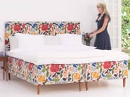 Double bed with upholstered headboard MODERN CLASSIC - Carpe Diem Beds of Sweden