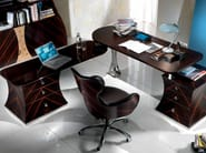 Wooden writing desk with drawers CARTESIO | Writing desk - Carpanelli Contemporary