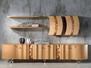 Wooden sideboard with doors with drawers MISTRAL   Sideboard - Carpanelli Contemporary