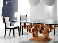 Upholstered wooden chair MINIMAL - Carpanelli Contemporary